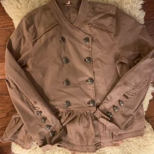 Free People Jackets & Coats - Free people pea coat - chocolate brown size Large